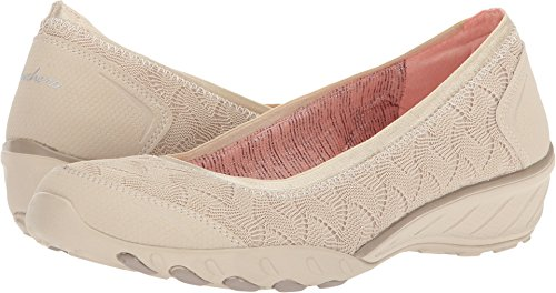 Skechers Savvy Play The Game Womens Wedge Skimmer Loafer Natural 7.5