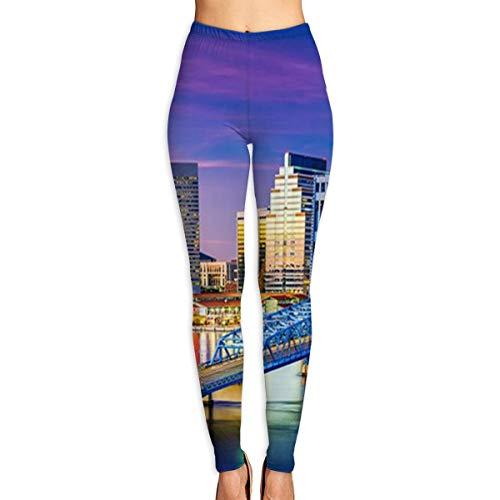 WSPTBRA Jacksonville Fl Printed High Waist Yoga Capris Pants Full-Length Yoga Workout Leggings Pants for Women]()