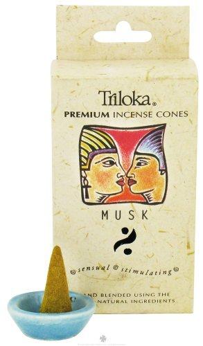 Triloka Premium Cones Windrose, Incense Cone Musk, 20 Gram