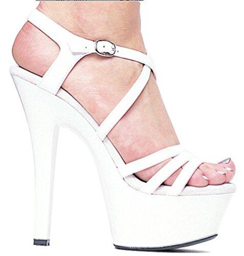 Modell Modell Modell gehen und zeigen schwarze 15 zentimeter hochhackigen sandalen ddfdb5
