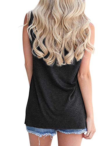 Hount Womens Tank Tops Summer Casual Sleeveless Loose Fit Tee T-Shirts (Medium, A-Orange)