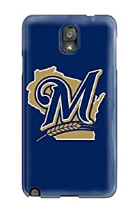 RandyHPayton Fashion Protective Milwaukee Brewers Case Cover For Galaxy Note 3