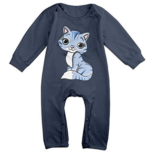 [Haru Obedient Cat NewBorn Boy's & Girl's Long Sleeve Jumpsuit Outfits Navy 18 Months] (Nerf Boy Costume)