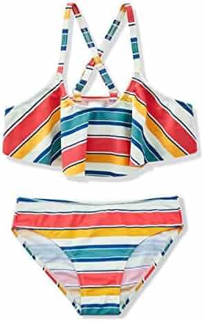 6864d5402bbc0 HowJoJo Girls Two Piece Bikini Swimsuit Floral Ruffle Swimwear Flounce Bathing  Suit Set