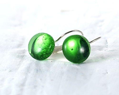 irish-whiskey-drop-earrings-recycled-jameson-bottle-emerald-green-glass