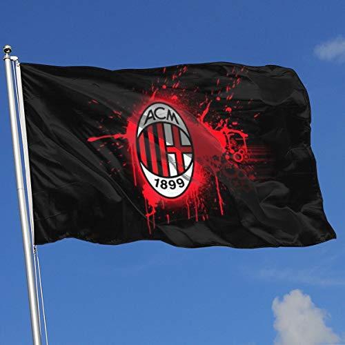 Ac Milan Flag - 51QIUflag AC Milan 3'x5' Flag and Banner