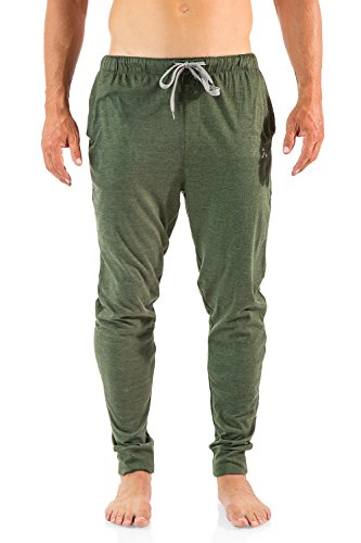Balanced Tech Men's Cotton Knit Jogger Lounge Pants - Sage - Small (Sage Lounge)