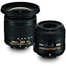 Nikon Landscape & Macro Two Lens Kit with 10-20mm f/4.5-5.6G VR & 40mm f/2.8G