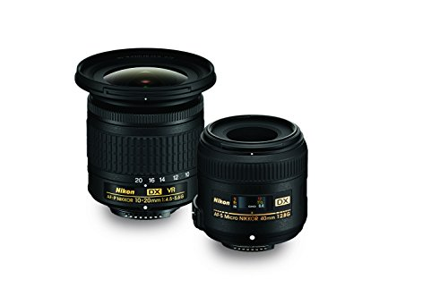 cro Two Lens Kit with 10-20mm f/4.5-5.6G VR & 40mm f/2.8G ()