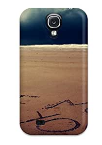 Shock-dirt Proof I Miss You Written On Sand Case Cover For Galaxy S4