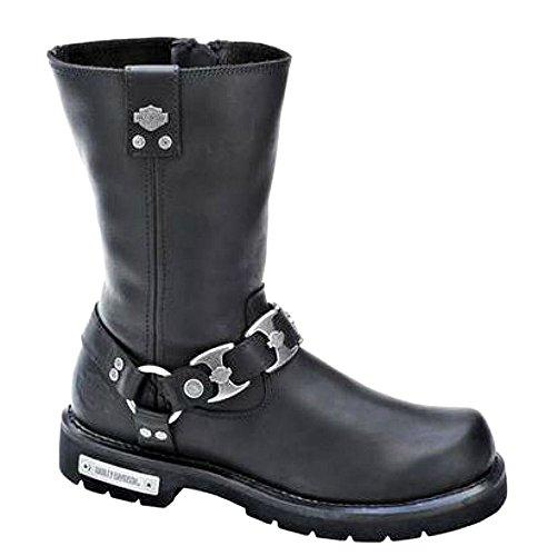 Harley-Davidson Men?s Maxwell 9.75-Inch Black Boots. Inside Zipper D96072 Size 12 D(M) US
