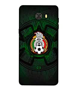 ColorKing Football Mexico 08 Black shell case cover for Samsung C9 Pro