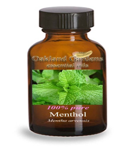 MENTHOL Essential Oil - BULK 100% PURE Therapeutic Grade Essential Oils - used as a flavoring for centuries, SOLID at room temperature (015 mL - 0.5 fl oz Bottle)
