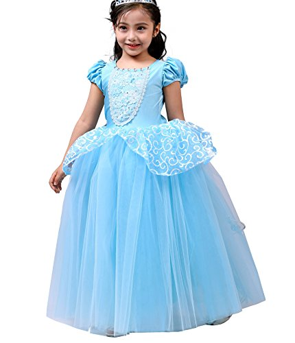 Dressy Daisy Girls Princess Cinderella Costumes Halloween Party Princess Dress Up Size 8/10