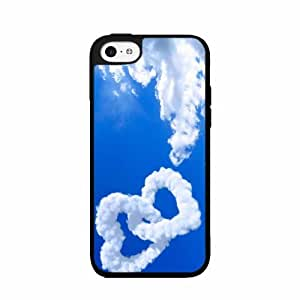 Cloud Hearts 2-Piece Dual Layer Phone Case Back Cover iPhone 4 4s