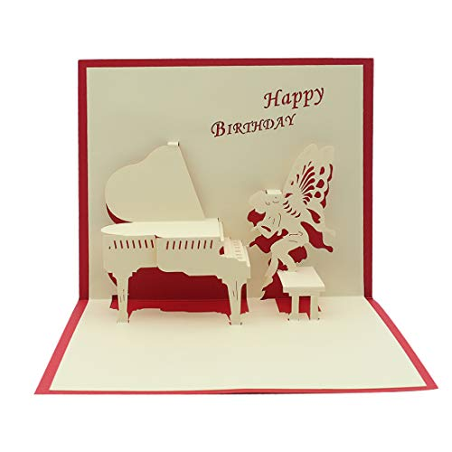 Pop up Birthday Piano Card with Envelopes - Pop up Birthday Cards for Women Men Kids Girls Husband Mom Boys - 3D Cards Thank You Birthday All Occasions