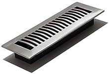 Decor Grates LA210-NKL Floor Register, 2-Inch by 10-Inch, Nickel