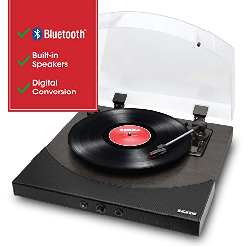 ION Audio Premier LP - Wireless Bluetooth Turntable/Vinyl Record Player with Speakers, USB Conversion, RCA & Headphone Outputs - Black Finish (PREMIERLPBKXCA)