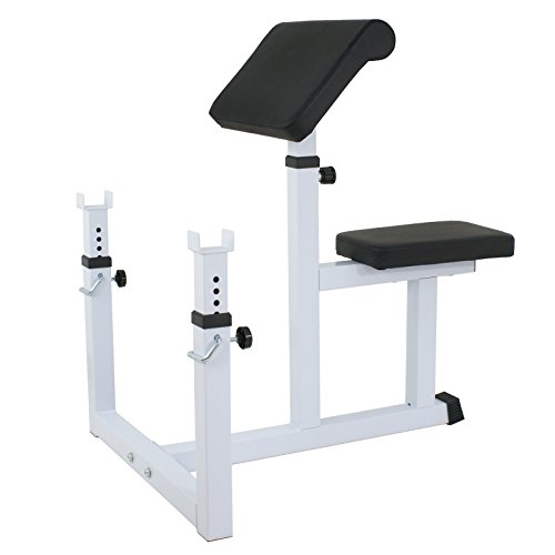 ZENY Fitness Preacher/Arm Curl Adjustable Weight Bench Attachment Dumbell Bicep by ZENY