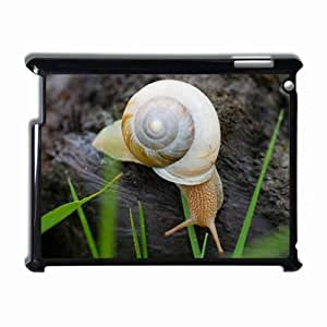 Customized Back Cover Case For iPad 2 3 4 Hardshell Case, Black Back Cover Design Snail Personalized Unique Case For iPad 2 wangjiang maoyi