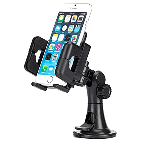 Premium Car Mount Dash Windshield Phone Holder for Motorola Moto X, G, E - RAZR M - DROID RAZR, Maxx, MAXX 2, HD - Droid Turbo, Turbo 2, Mini, Ultra - Galaxy Mega, Mega 2, Avant
