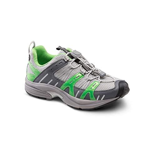 Dr. Comfort Refresh Women's Therapeutic Diabetic Extra Depth Shoe: Grey/Lime 7.5 X-Wide (E-2E)