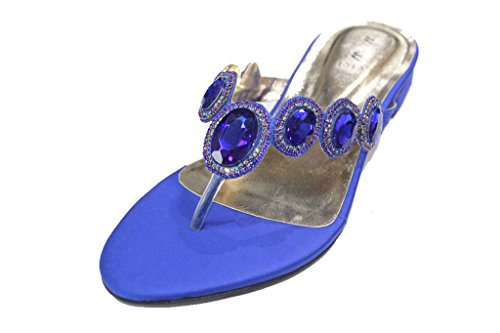 Wear & Walk UK - Sandalias de vestir para mujer 43 EU R Blue