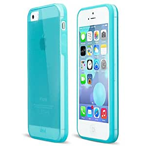 HP DFThin Matt Cover with Semi-transparent Back Cover for iPhone 5/5S , Blue