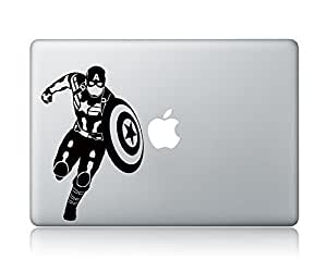 Captain America Apple Macbook Laptop Vinyl Sticker Decal