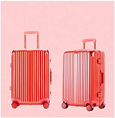 20 inches Trolley case Color : Silver Bahaowenjuguan Hard Rotating Luggage Best Gift Black Carrying Luggage Travel Organizer