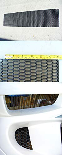 (Universal Small ABS Plastic Racing Honeycomb Hex Mesh Grill Hood Bumper BLACK1pc)
