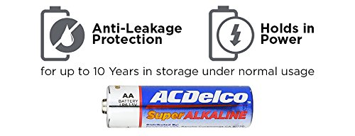 Acdelco Aa Batteries Alkaline Battery Bulk Pack 100