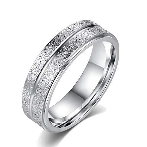 Jinymo Fashion Women Engagement Titanium Steel Ring Wedding Jewelry Gift Rings