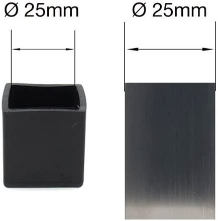 1 3//16 30mm Square Rubber FEET STOPPERS Tips FERRULES CAPS for Table and Chair Legs by LIFESWONDERFUL/® 16