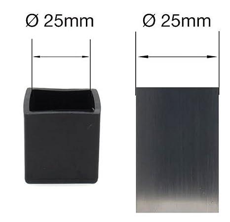 1 3//4 pour pieds de tables//chaises Lifeswonderful/® 45 mm Embouts carr/és en caoutchouc - Lot de 50