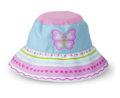 Melissa & Doug Sunny Patch Cutie Pie Butterfly Hat With Wide Brim for Sun Protection Summer Patch Cap