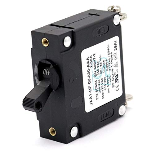T Tocas Toggle Single Pole Hydraulic Magnetic Circuit Breakers AC or DC 80V (30A)