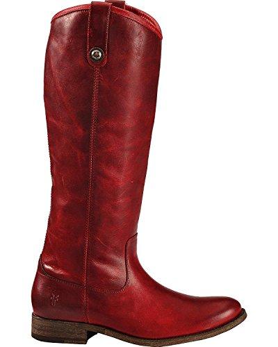 Frye Womens Melissa Button Boot Burgundy