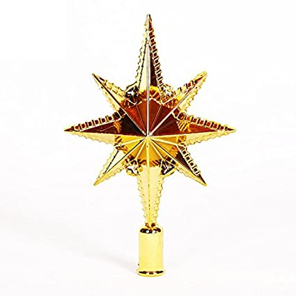 Amazon Com Nacola Gold Beautiful Star Christmas Tree Topper For