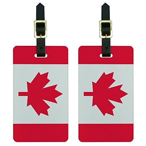 Graphics & More Canada Flag Luggage Tags Suitcase Carry-on Id, ()