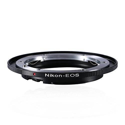 Beschoi Lens Mount Adapter for Nikon Nikkor F Mount AI Lens to Canon EOS (EF, EF-S) Mount DSLR Camera Body
