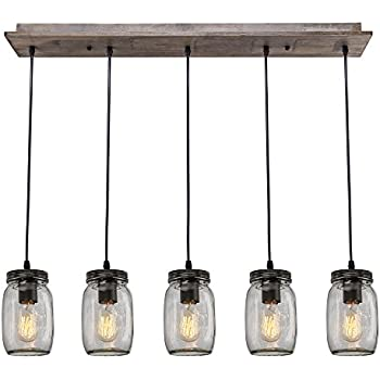 Lnc wood pendant lighting 5 light glass mason jar ceiling lights lnc wood pendant lighting 5 light glass mason jar ceiling lights linear chandelier lighting aloadofball Image collections