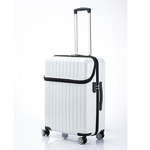 アクタス トップオープン ジッパーハード 59L スーツケース 74-20329 ホワイトカーボン [並行輸入品]   B0782T42TM