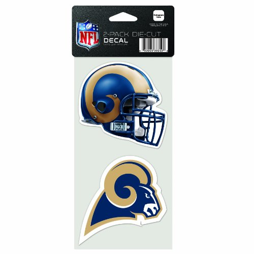 WinCraft NFL Los Angeles Rams 2-Piece Die Cut Decal, 4
