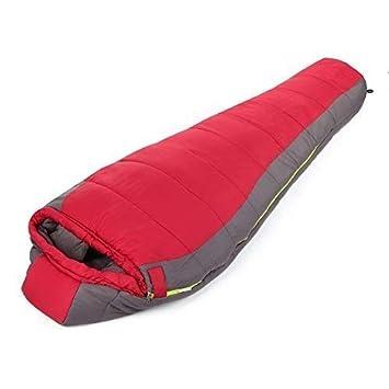 Outad - Saco de dormir momia, 1.8 kg, color rojo y gris: Amazon.es: Deportes y aire libre