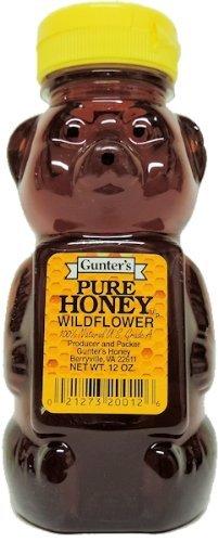 Gunter's Pure Wildflower Honey Bear - 12 oz.
