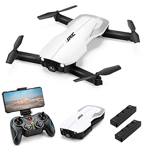 Drones with 1080P HD Camera for Adults, JJRC Foldable Drone with 2 Batteries, Optical Flow Positioning Quadcopter with…
