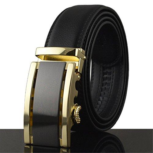 (Business Belts For Men Ceinture Leather Belt Buckle Wide Belt Fashion Pants Strap 130cm Q170 88102 115cm)