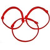 Lot de 3 bracelets Kabbale en corde Rouge