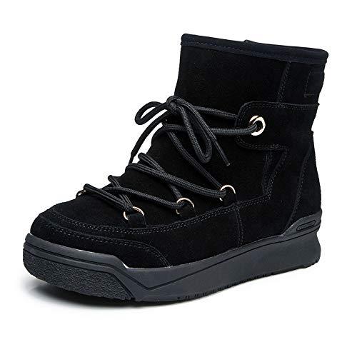 Shukun Stiefeletten Liebe Schnee Stiefel Stiefel Frauen Stiefel Stiefel Stiefel im Herbst und Winter erhöhte Flache Boden Kurze röhre Kuchen unten Liebe Frauen b814a3